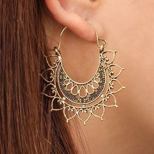 Boho Drop Earrings Metal Alloy